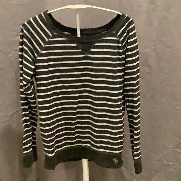 abercrombie kids Other - Abercrombie Kids Gray/White Stripe Shirt - Size L